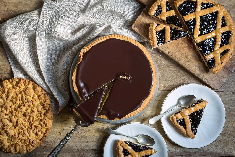 Torta di ricotta e cioccolata, sbrisolona e crostata del Panificio Alinovi a Parma, Collecchio e Ozzano Taro.