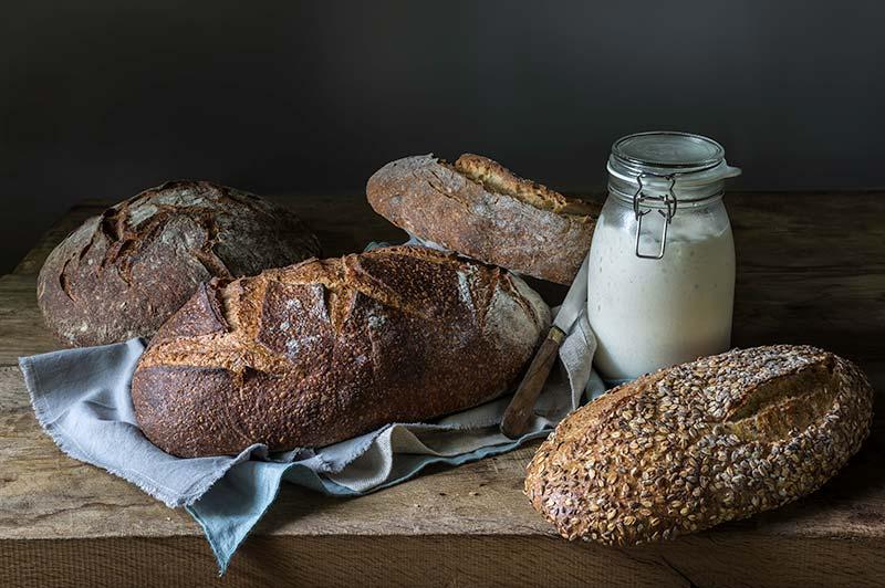 Il pane a lievito madre del Panificio Alinovi: tantissimi tipi diversi.